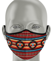 Fashion Face Mask - Native Style Red