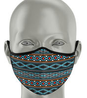 Fashion Face Mask - Native Style Blue/Black