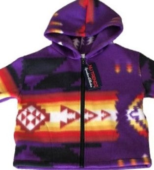 Purple Polar Fleece Hoodie