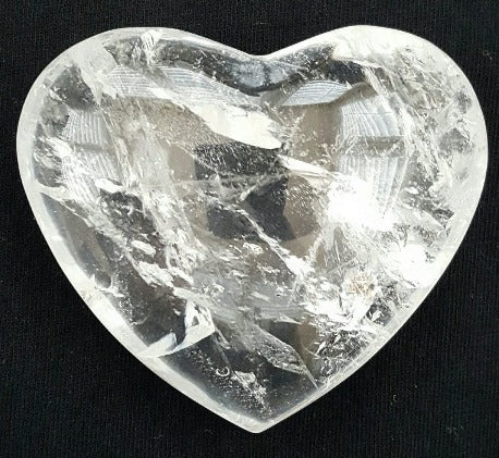 Gemstone Heart - Quartz, Small