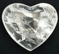 Gemstone Puffy Heart - Quartz, Small