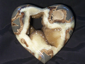 Gemstone Heart - Septarian, Small