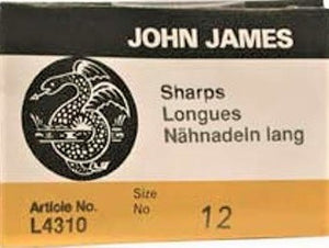 Sharps Needle - Size 12 Longs (25 pack)
