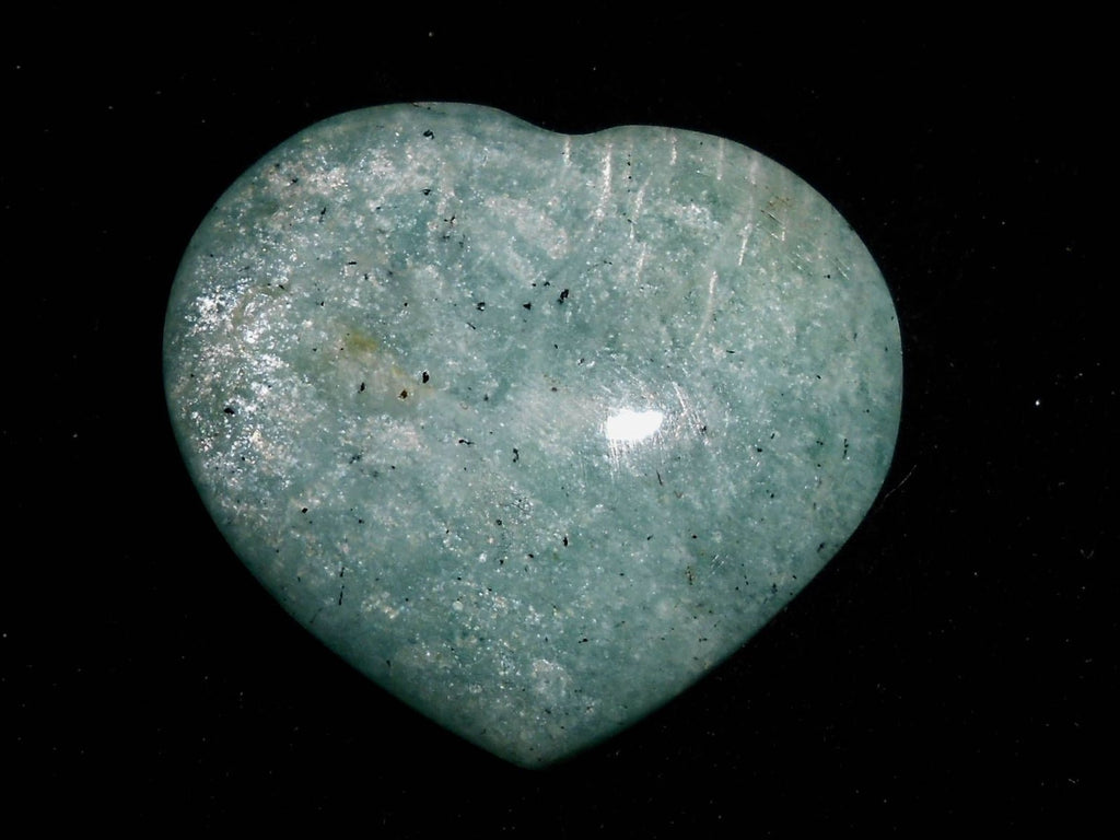 Gemstone Puffy Heart - Amazonite, Small