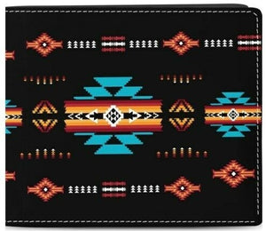 Men's Printed Wallet - Black