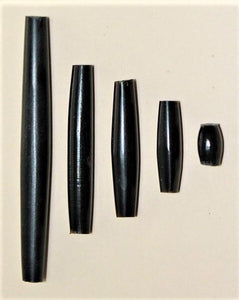 Horn Hair Pipe Black