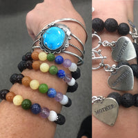 Chakra Color S.S. Mother Charm Bracelet