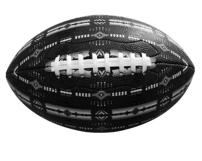 Football Native American Style - Black & White
