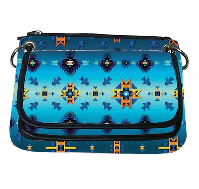Printed Gradient Crossbody Purse - Diamond Azure