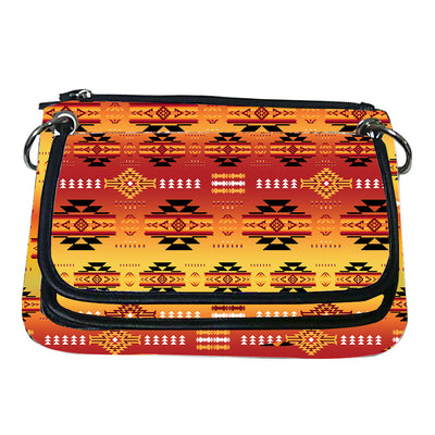 Printed Gradient Crossbody Purse - Fire
