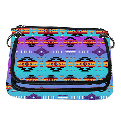 Printed Gradient Crossbody Purse - Purple Mint