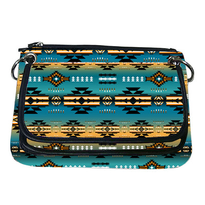 Printed Gradient Crossbody Purse - Teal Power