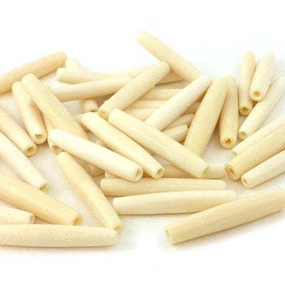 "Hairpipe 1.5"" White Bone 20pc"