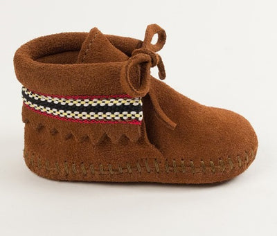 Infant Suede Braided Cuff Softsole - Brown