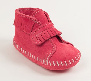 Infant Suede Velcro Front Softsole - Pink