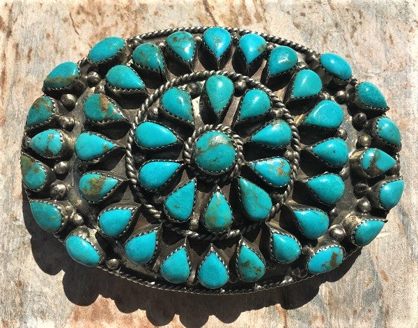 Jim Yazz Turquoise Belt Buckle