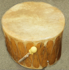 "Cochiti Log Drum, 26"" x 20"""