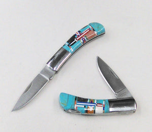 "Inlay Pocket Knife, 5"" - 1 Blade"
