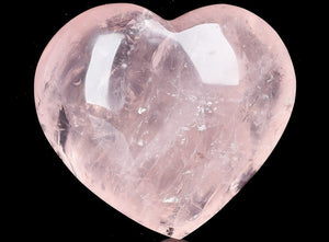 Gemstone Puffy Heart - Rose Quartz, Small