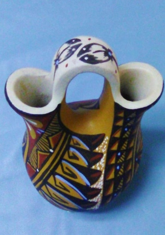 "Navajo Wedding Vase 5.5"" Painted"