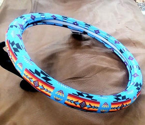 Southwest Style Truck Steering Wheel Cover - Blue