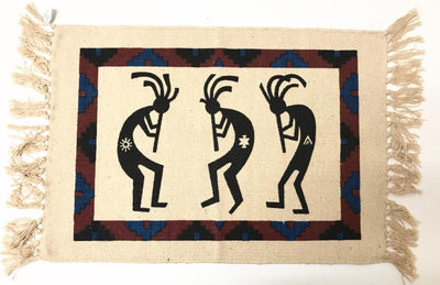 "Place Mat - 3 Kokopelli 13""x 19"
