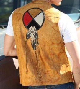 Circle of Life Leather Vest