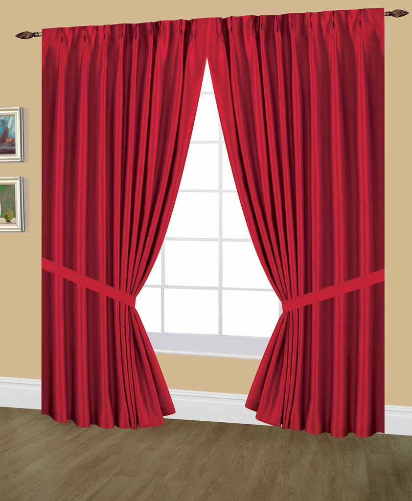Elaine Pinch Pleated Lined Drapes Double Width With Tie