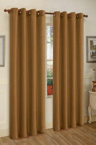 "Editex Elaine 95""L Faux Silk Panel with 8-Top Grommets"