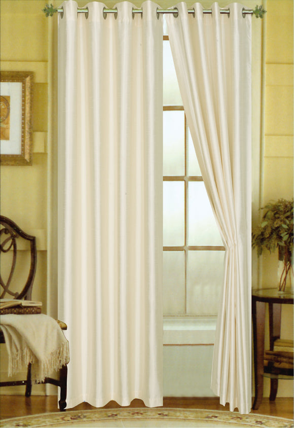 48 by 63-Inch Editex Home Textiles Elaine Lined Pinch Pleated Window Curtain Chocolate