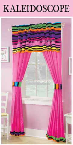 Kaleidoscope Themed 5 Piece Curtain Set