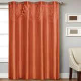 "Elaine Grommet Panel With Attached Hand Beaded Valance. 58""W x 84""L in 28 colors"