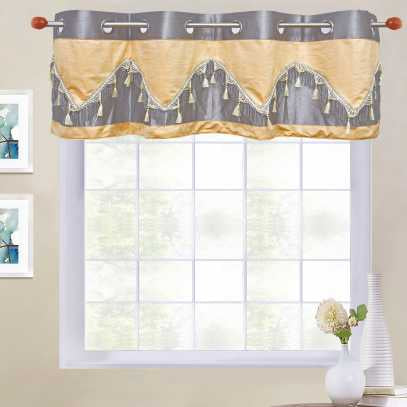 Double Festoon 8-Top Grommet Valance