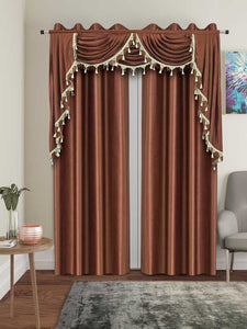 One Triple Waterfall Valance with Swag