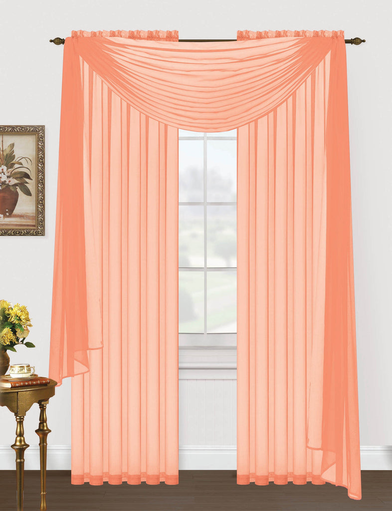 Monique Sheer Voile Window Scarf Editex Home Textiles