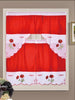 Embroidered Rod Pocket Window Tiers & Swag Valance Sets in 8 Designs: Butterfly, Chef, Dhalia, Girasol, Giselle, Mariposas, Rooster, & Strawberry