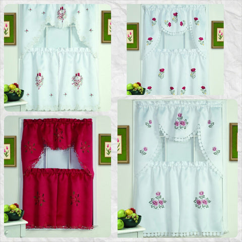 Holiday Kitchen Curtain Set