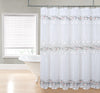 Rose Garden Macrame Embroider Shower Curtain