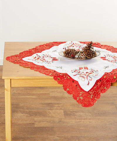 Holiday Hand Embroidered Tablecloths, 4 Styles and 5 Sizes Available