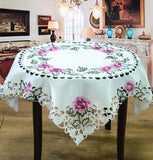 Hand Embroidered Tablecloths, 4 Styles and 5 Sizes Available