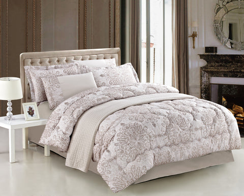 7 Piece Comforter Set, Assorted Styles in King and Queen
