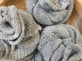 loose knit grey mohair wrap wrap  RTS