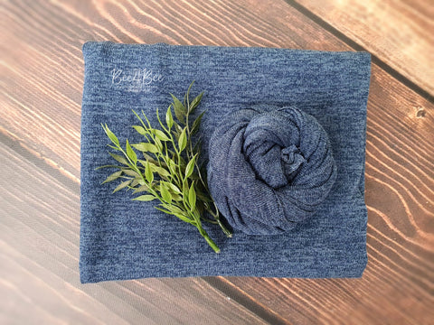 blue knitted fabric backdrop set RTS