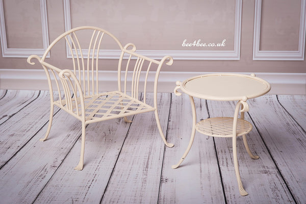 metal chair and table set