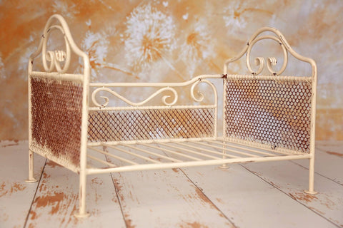 rustic metal bed