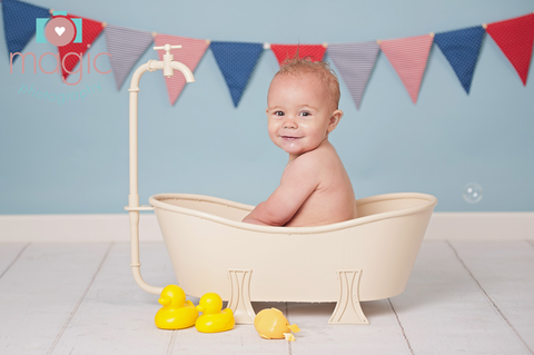 cake smash bath tub