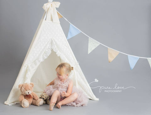 teepee with lace large
