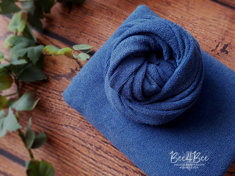 denim blue fabric backdrop set RTS