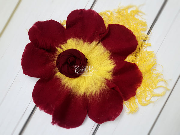 bundle red&yellow flower RTS
