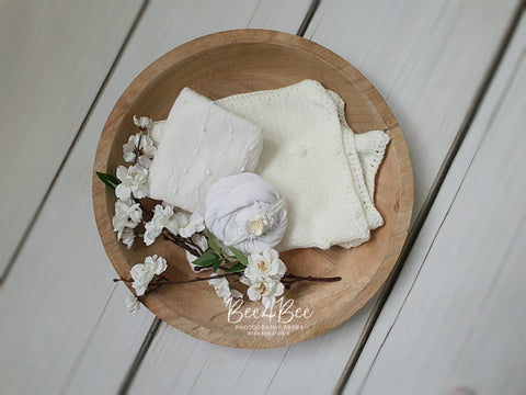 white photo props bundle for newborn photography  ''Ella'' RTS